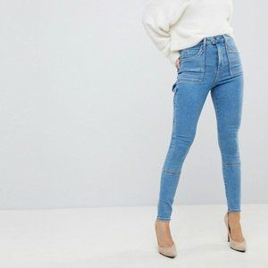 ASOS Ridley High Waisted Skinny Painter Style Jean